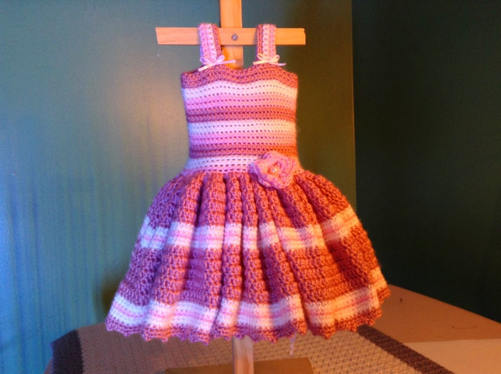 Crochet Dress : love every precious detail on this Free Baby Crochet Dress Pattern ...
