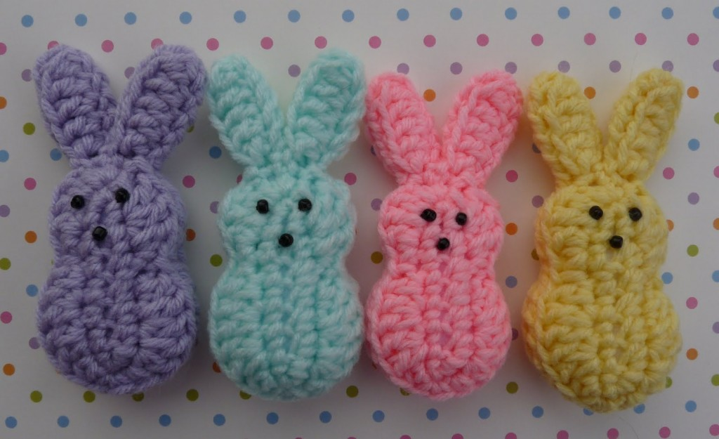 Easter Marshmallow Bunnies Free Crochet Pattern