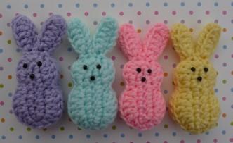 Easter Marshmallow Bunnies Free Crochet Pattern