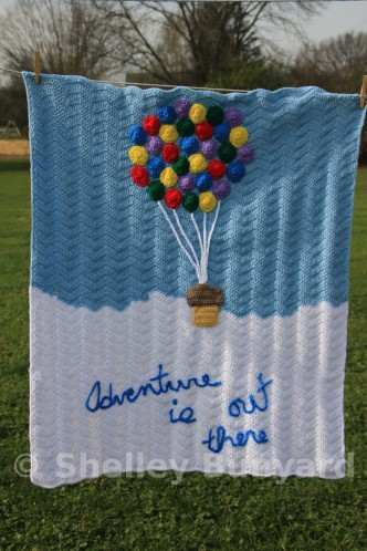 Hot Air Balloon Baby Blanket Crochet Pattern