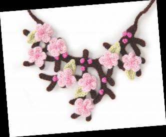 Cherry Blossom Necklace Crochet Pattern