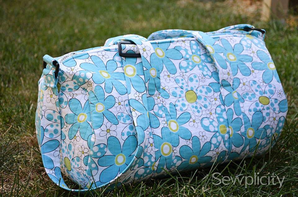 Quilted Duffle Bag Sewing Tutorial – AllCrafts Free Crafts Update