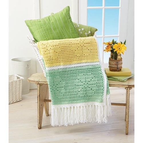Daisy Filet Throw Free Crochet Pattern