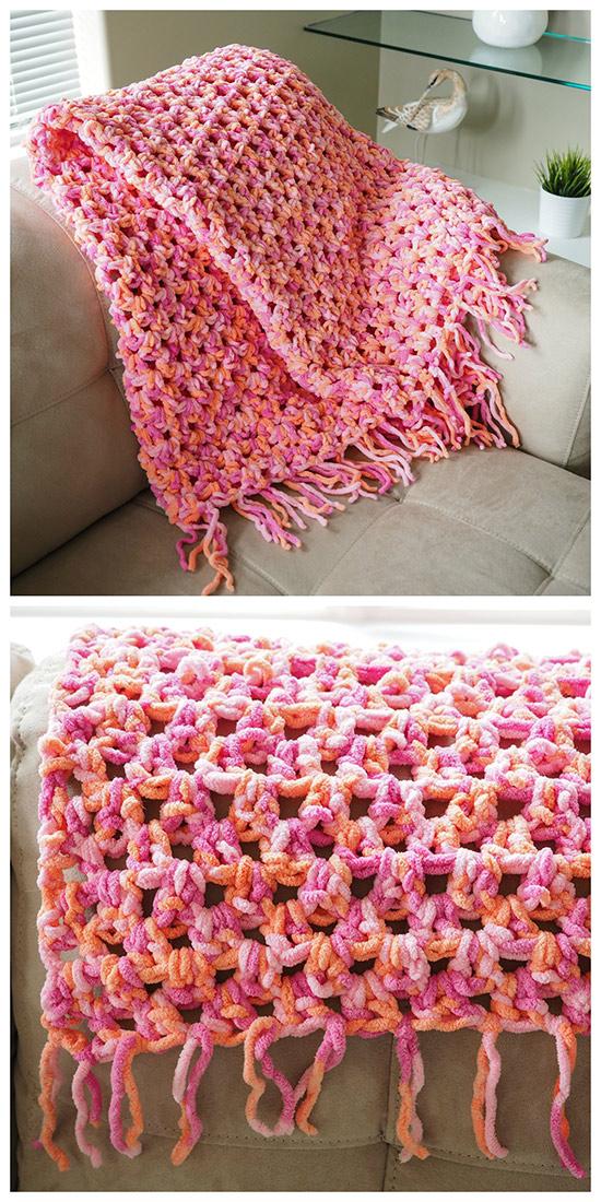 Easy Cozy Crochet Blanket Pattern