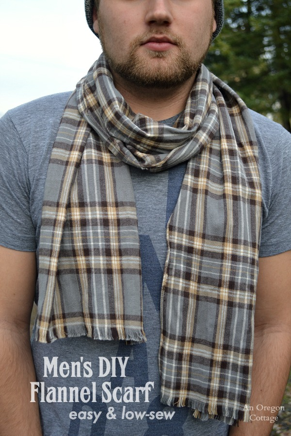 Easy Men's DIY Flannel Scarf