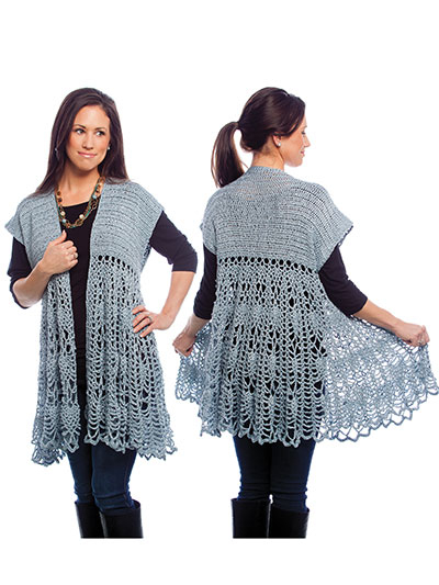 Pineapple Swing Cardigan Crochet Pattern Allcrafts Free Crafts Update