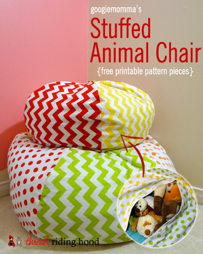 Stuffed Animal Chair Free Printable Sewing Pattern