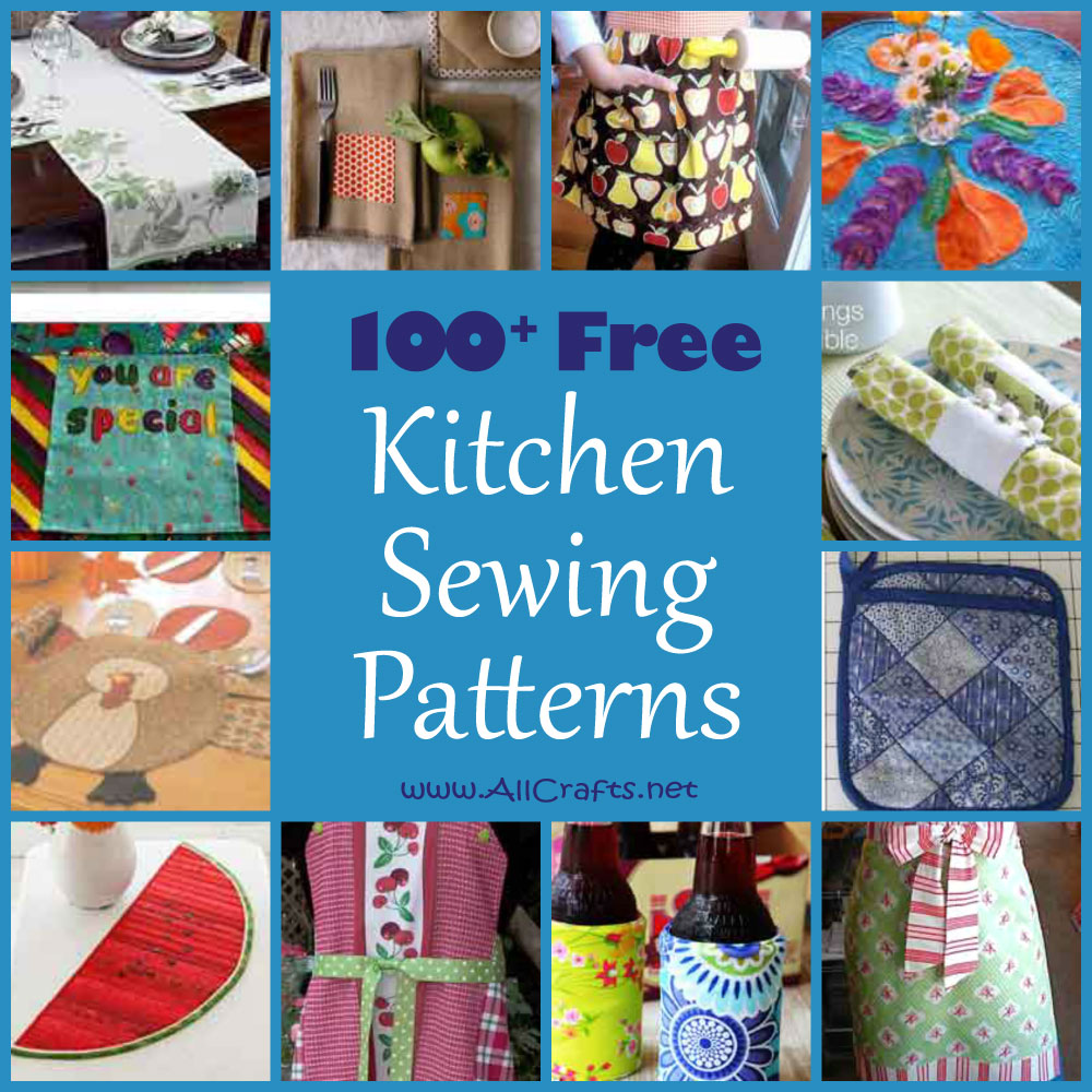 For The Kitchen 100 Free Kitchen And Dining Sewing Patterns Allcrafts Free