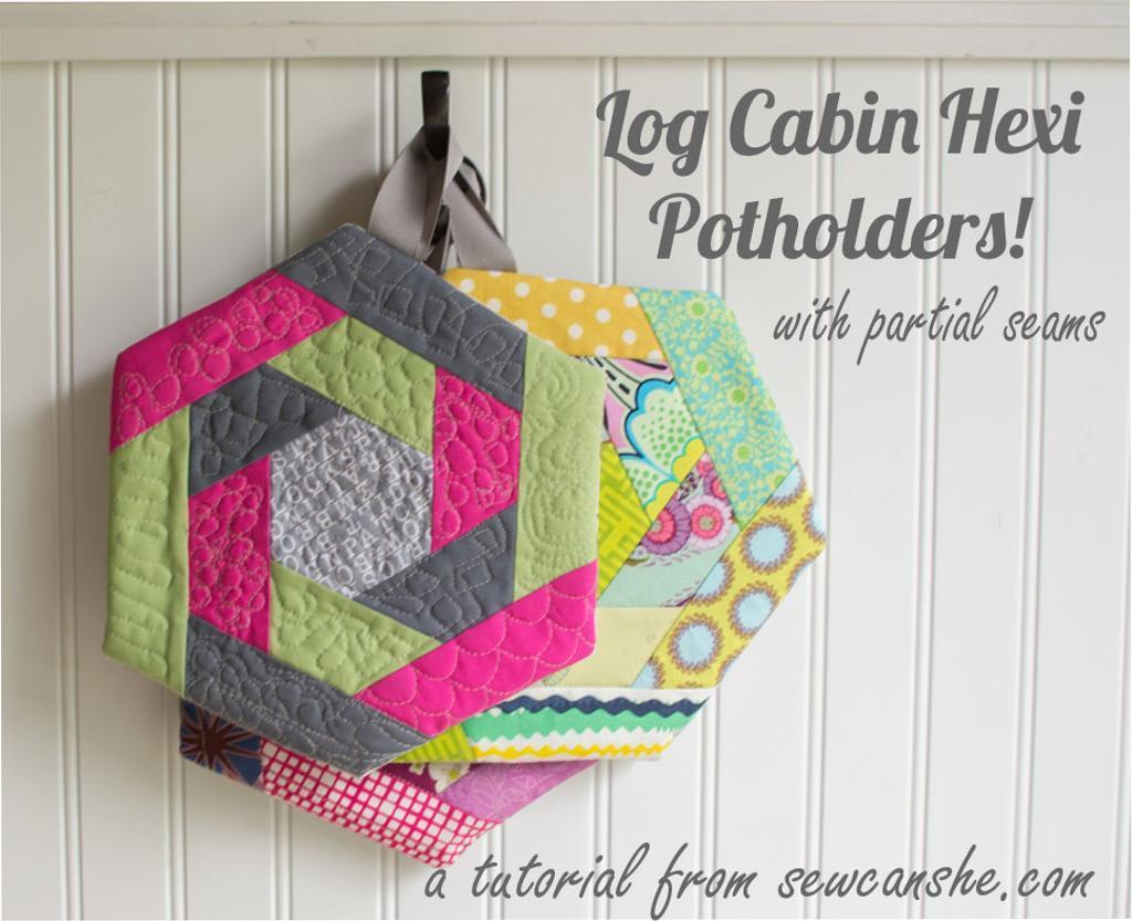 Log Cabin Hexi Potholder Sewing Pattern AllCrafts Free Crafts Update