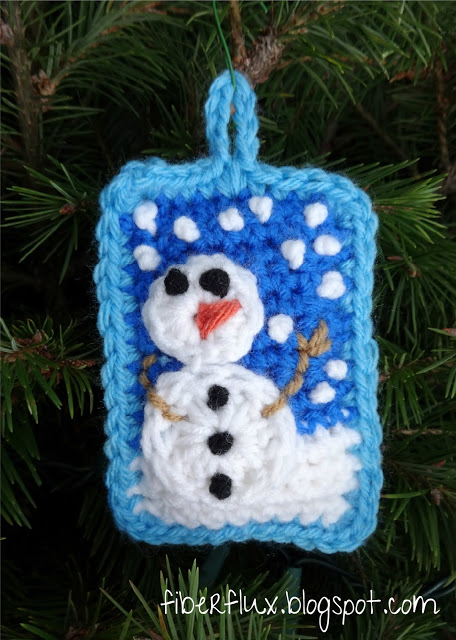 Snow Day Pillow Ornament Crochet Pattern