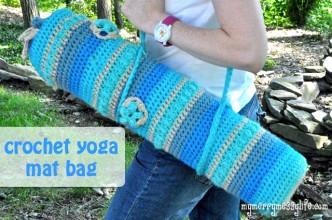 Yoga Mat Bag Free Crochet Pattern