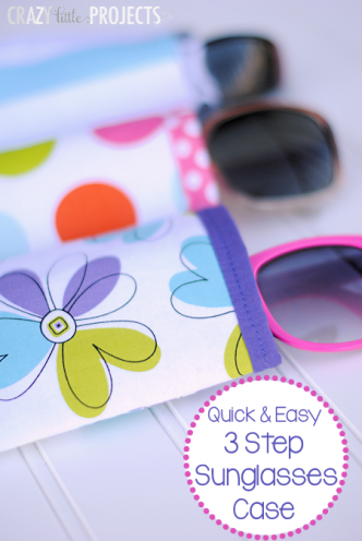Quick and Easy Sunglasses Case Sewing Pattern