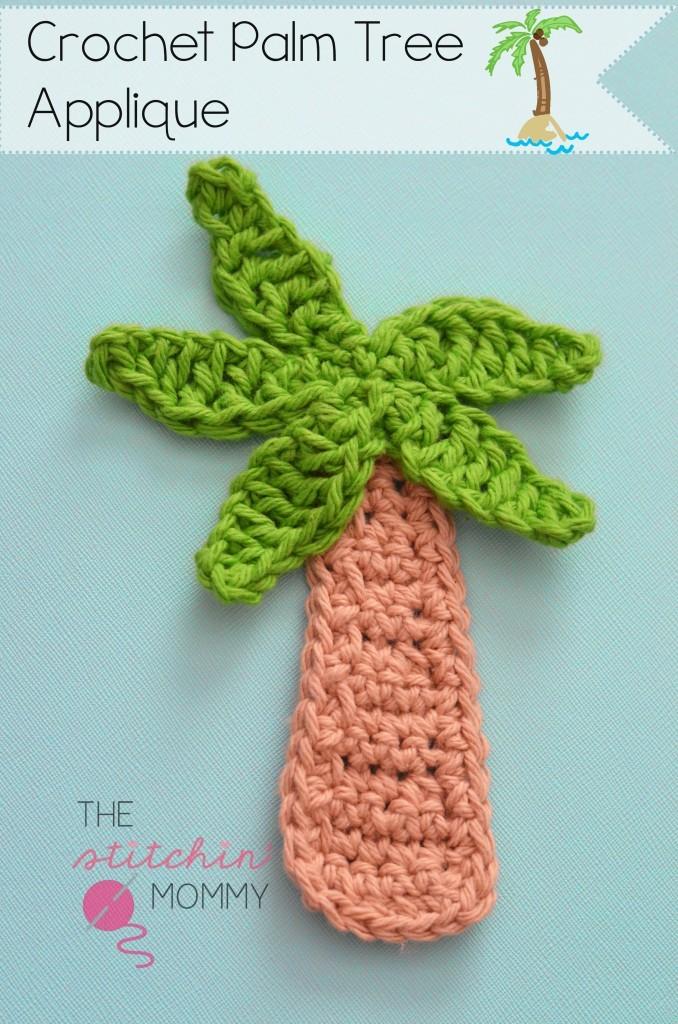 Palm Tree Applique Crochet Fridgie Pattern