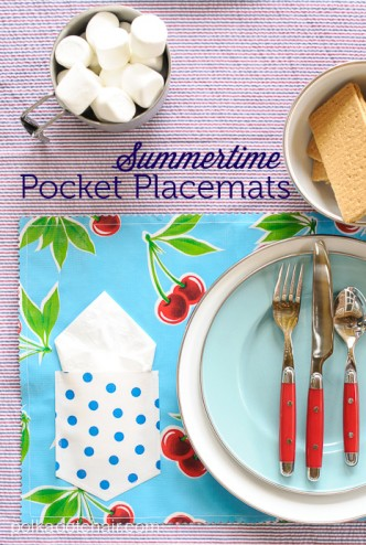 Summertime Pocket Placemats Sewing Tutorial