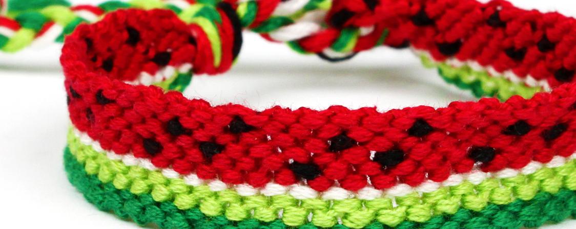 DIY Watermelon Friendship Bracelets