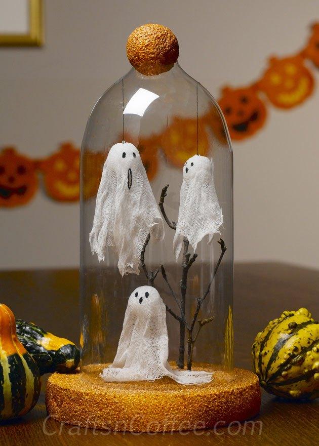 Halloween Ghosts Under Glass Tutorial