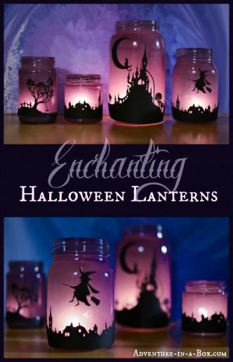 Halloween Lantern Jars
