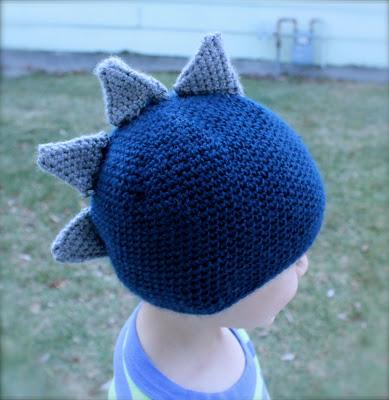Stegosaurus Dinosaur Hat Crochet Pattern