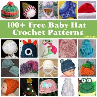 100+ Baby Hats Crochet Patterns