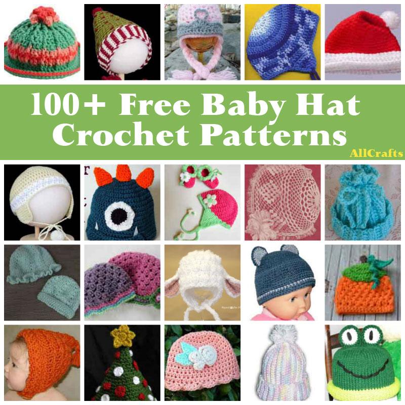 100+ Baby Hats Crochet Patterns