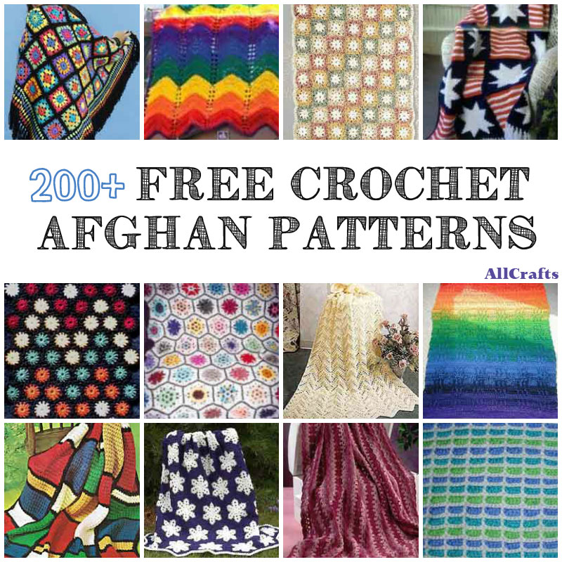 200 Free Crochet Afghan Patterns Allcrafts Free Crafts Update