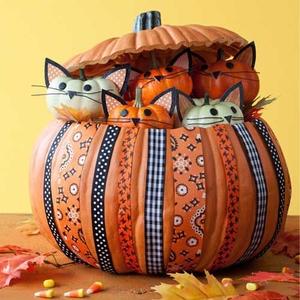 DIY Kittycat Pumpkin