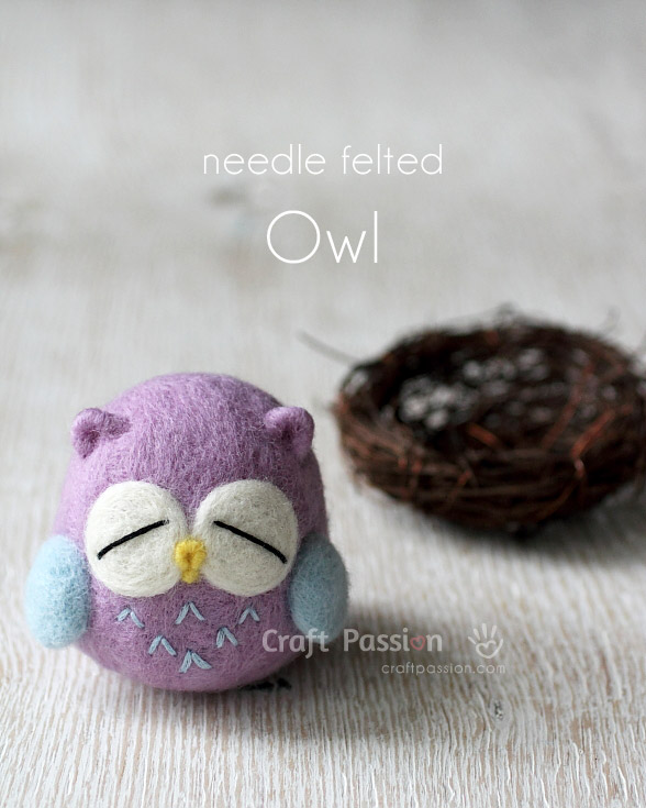 Needle Felted Owl Tutorial