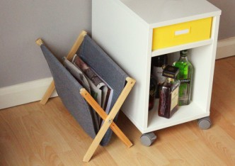 DIY Folding Magazine Rack