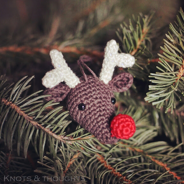 Rudolph the Reindeer - Christmas Ornament Crochet Pattern