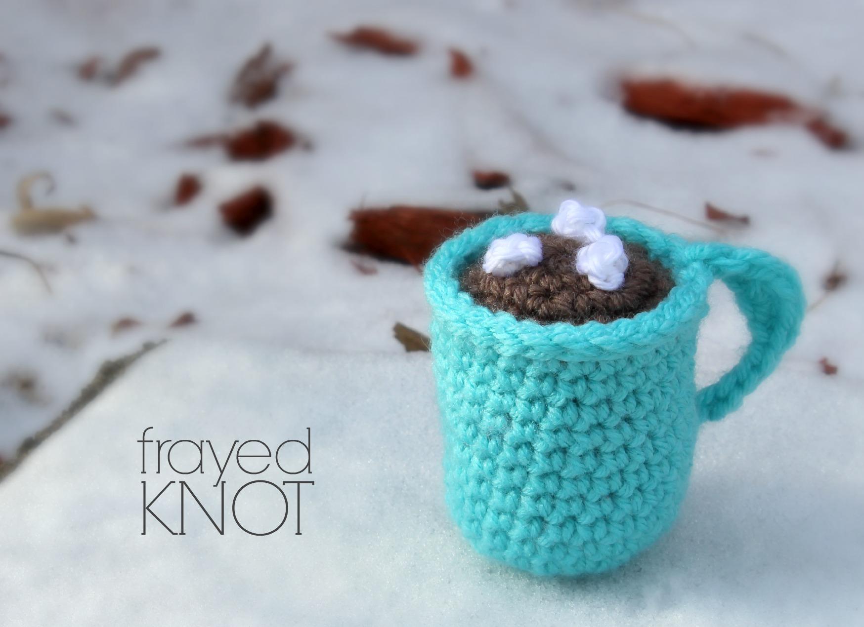 Hot Cocoa Mug Ornament Crochet Pattern
