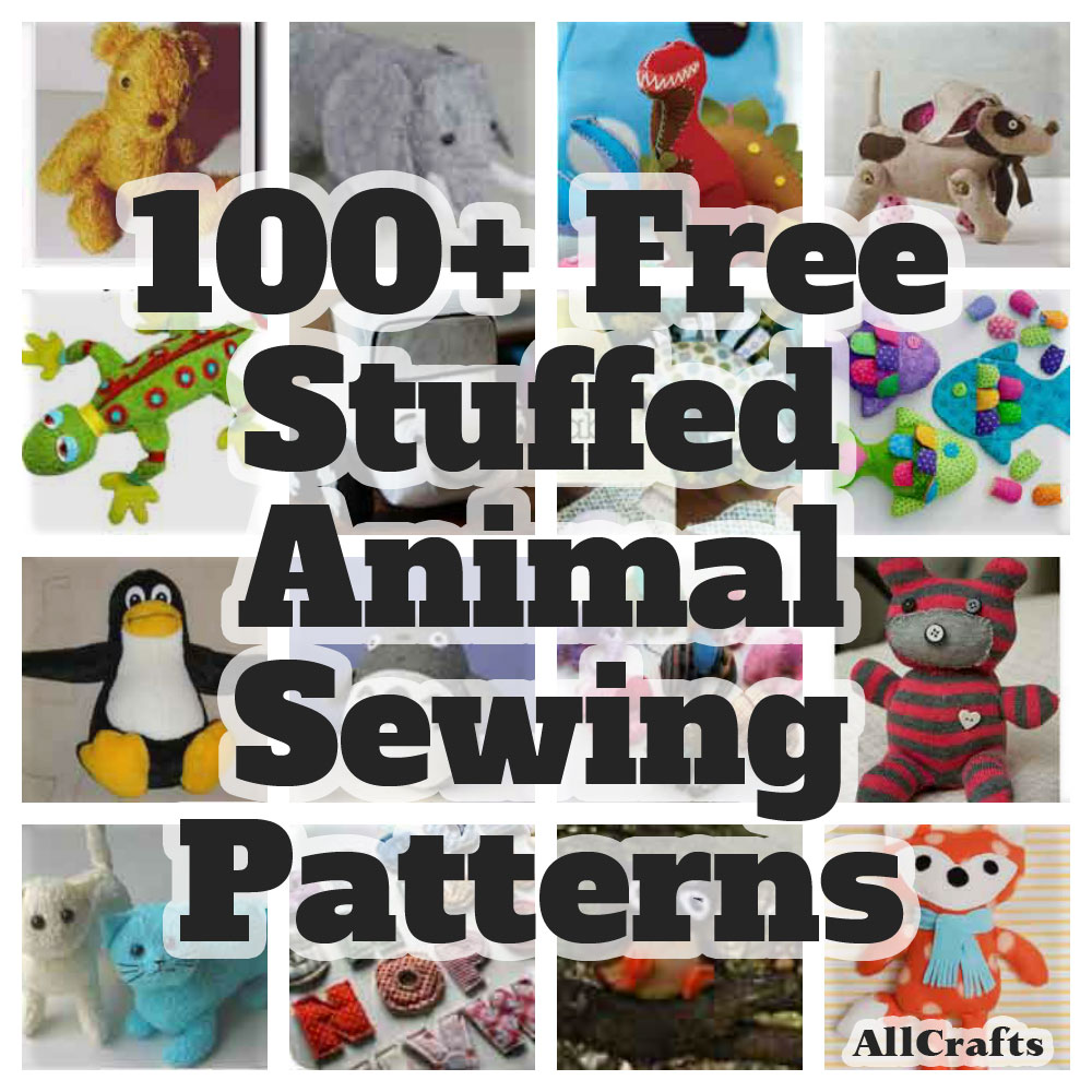 Stitch a fun softie for a little one with our collection of 100 free