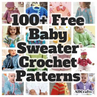 100 Free Baby Sweater Crochet Patterns