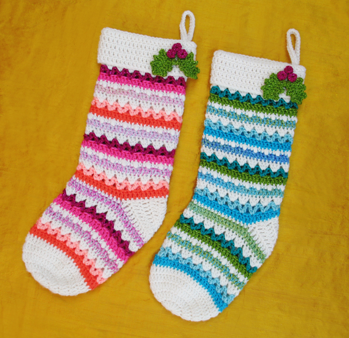 Festive Christmas Stockings Crochet Pattern Allcrafts Free Crafts