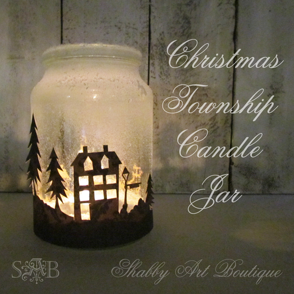 Christmas Scene Candle Jar