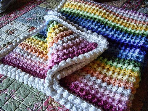 Rainbow Blanket Crochet Pattern