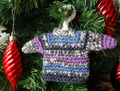 Mini Sweater Ornament Crochet Pattern Allcrafts Free Crafts Update