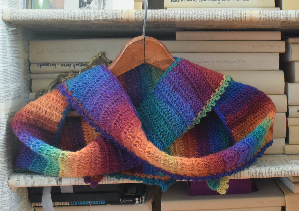 Rainbow After the Storm Shawlette Free Crochet Pattern