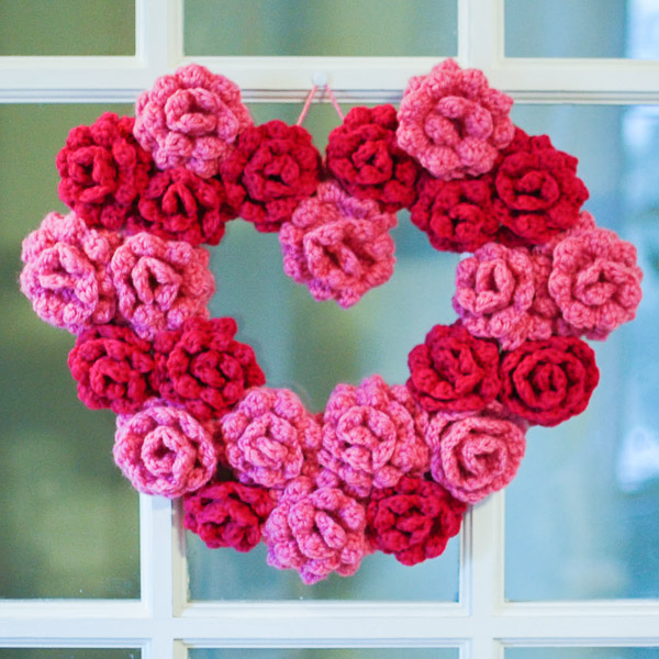Crochet Rose Heart Wreath Pattern ? AllCrafts Free Crafts ...