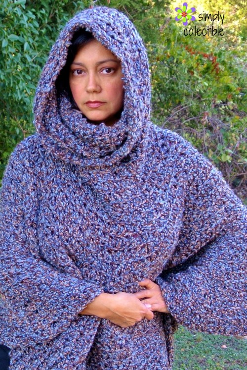 Cowl Hooded Poncho Free Crochet Pattern Allcrafts Free Crafts Update