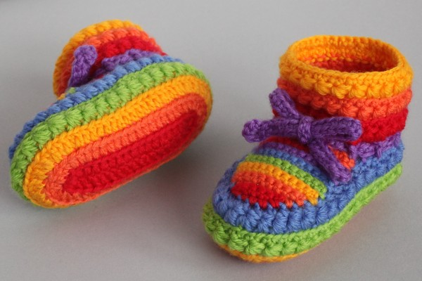 Free Crochet Bootee Pattern