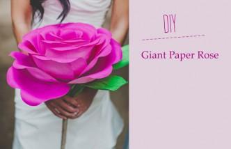 DIY Giant Paper Rose Flower Tutorial