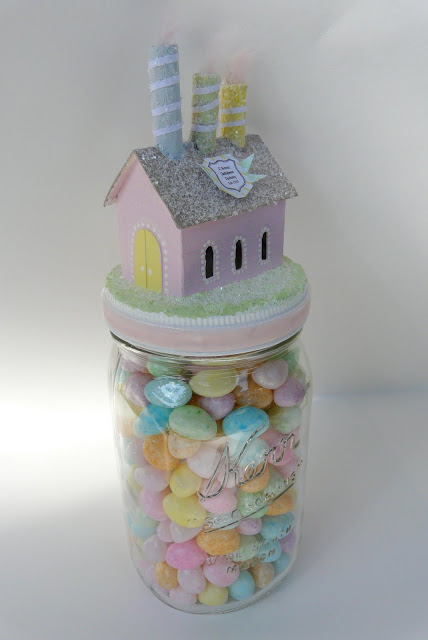 DIY Easter House Mason Jar
