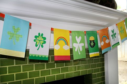 Free Printable St. Patrick's Day Flag Banner