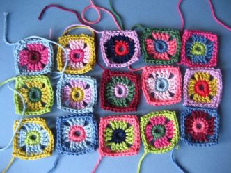 Little Coat Squares Free Crochet Pattern