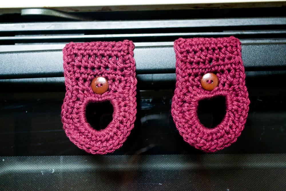 Dish Towel Hangers Free Crochet Pattern