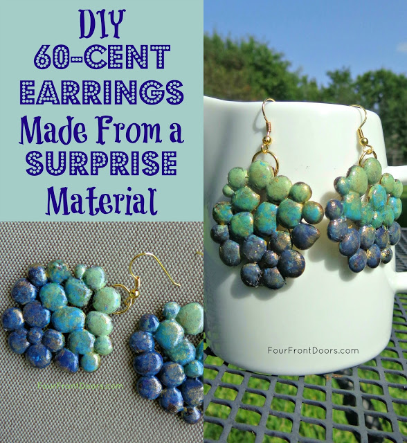 Glue Gun Glam Earrings Tutorial