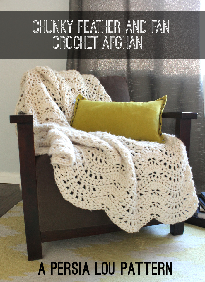 Chunky Feather and Fan Crochet Blanket Pattern – AllCrafts Free ...