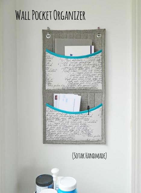 Wall Pocket Organizer Tutorial