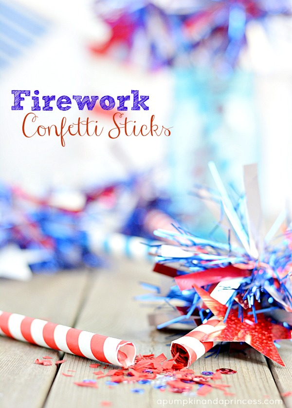 DIY Firework Confetti Sticks