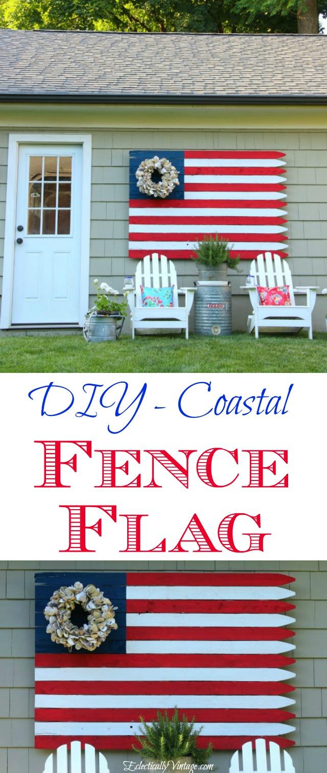 DIY Fence Flag